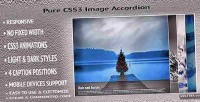 Css3 pure image accordion