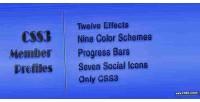Css3 member profiles with bars progress animated