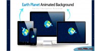 Planet earth animated background
