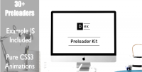 Preloader dex kit animations css3 pure