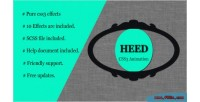 Pure heed effects animation css3