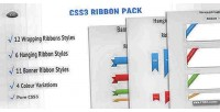 Ribbon css3 pack