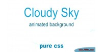 Sky cloudy animated background