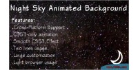Sky night animated background