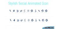 Social stylish media style icons animated