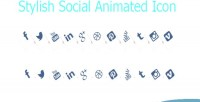 Social stylish media style icons animated