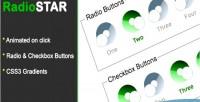 Star pure css3 radio theme checkbox & star