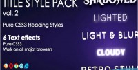 Style heading 2 vol. pack