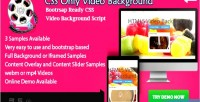 Video background bootstrap ready css only overlay content with video