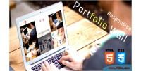 Wall portfolio html css