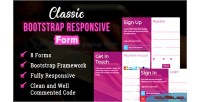 Bootstrap classic responsive form