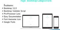 Bootstrap pagli collapse form