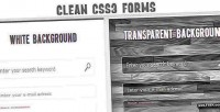 Css3 clean input forms