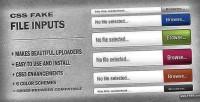 Fake css file inputs