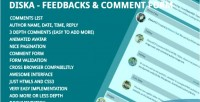 Feedbacks diska comment form