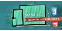Forms golden responsive framework form css3