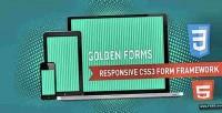 Forms golden responsive framework form css3