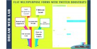 Multipurpose flat forms bootstrap3 twitter with