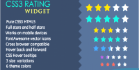 Rating css3 widget