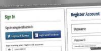 Register login form handling error with