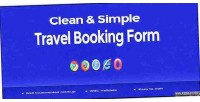Simple clean form booking travel