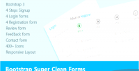 Super bootstrap clean forms