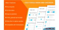 Toggle css3 radio checkbox