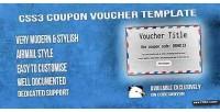Coupon css3 voucher template