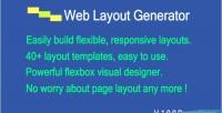 Layout web code generator