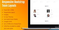 Responsive ateam layouts team bootstrap