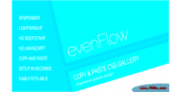 Responsive evenflow image gallery