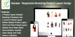 Responsive samaan bootstrap design layout product