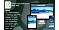 Responsive upperi design header bootstrap
