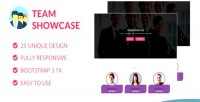 Showcase team pure css & html