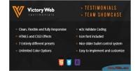 Testimonials bootstrap team showcase