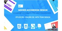 Accordion advanced framework uikit for