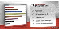 Animated css3 progress bar