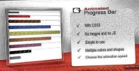 Animated css3 progress bar