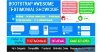 Awesome bootstrap showcase theme testimonials