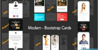 Bootstrap modern cards