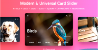 Card slider modern universal html5 css3 slider jquery and