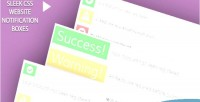 Css sleek boxes notification website