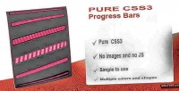 Css3 pure bars progress animated