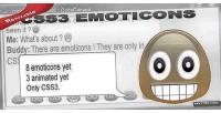 Css3 pure emoticons