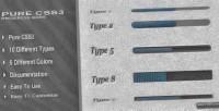 Css3 pure progress bars