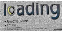 Css3 simple animated loaders