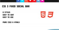Fixed css3 social bar