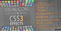 Icons social effects css3 ultimate