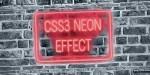 Neon css3 effect