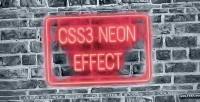 Neon css3 effect